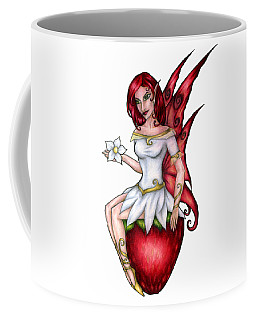 Strawberry Fairy Drawing Coffee Mug