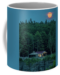 Coffee Mug featuring the photograph Strawberry Moon by Brad Wenskoski