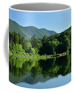 Streak Of Light At The Lake Coffee Mug