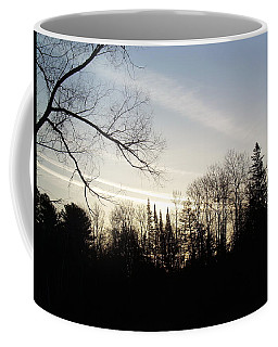 Coffee Mug featuring the photograph Streaks Of Clouds In The Dawn Sky by Kent Lorentzen