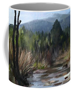 Coffee Mug featuring the painting Stream by Ivana Westin