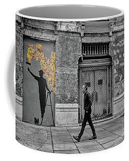 Coffee Mug featuring the photograph Street Art In Malaga Spain by Henry Kowalski