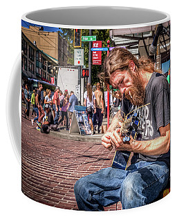 Coffee Mug featuring the photograph Street Blues by Spencer McDonald