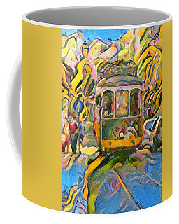 Street Car Lisbon Coffee Mug
