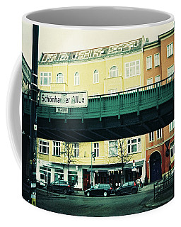 Street Cross With Elevated Railway Coffee Mug