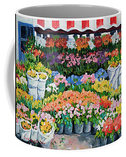 Street Flower Stand Coffee Mug