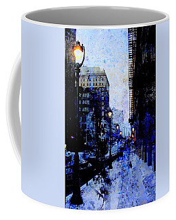 Street Lamps Sidewalk Abstract Coffee Mug
