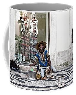 Coffee Mug featuring the photograph Street Music, Lisboa by Lorraine Devon Wilke