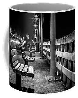 Santa Cruz Wharf At Night Coffee Mug