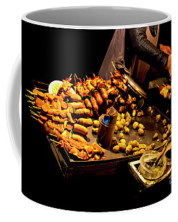Coffee Mug featuring the photograph Street Meat by Al Bourassa