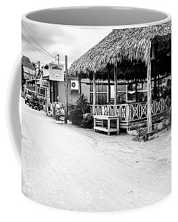 Street Scene On Caye Caulker Coffee Mug