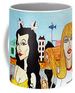 Street Scene With Sue Looking At You Coffee Mug