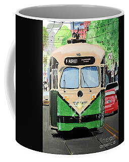 Coffee Mug featuring the painting Streetcar Not Named Desire by Tom Riggs