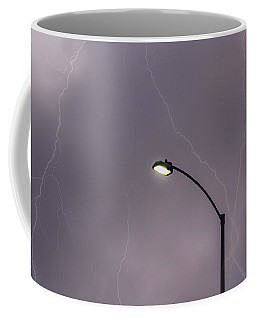 Coffee Mug featuring the photograph Streetlight by Alison Frank