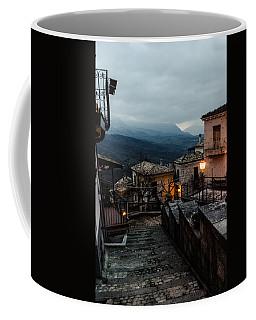Streets Of Italy - Caramanico 3 Coffee Mug by Andrea Mazzocchetti