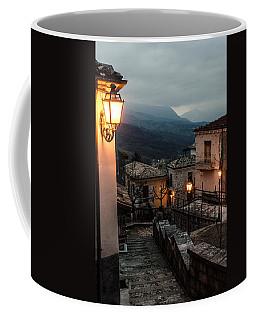 Streets Of Italy - Caramanico Coffee Mug by Andrea Mazzocchetti
