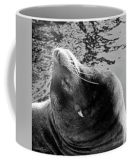 Stretch, Black And White Coffee Mug
