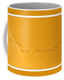 String Of Birds In Orange Coffee Mug