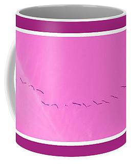String Of Birds In Purple Coffee Mug