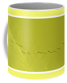 String Of Birds In Yellow Coffee Mug