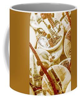 String Of Buttons Coffee Mug