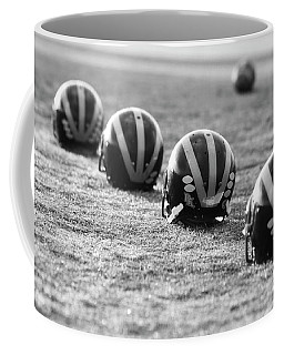 Striped Helmets On The Field Coffee Mug