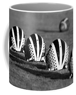 Striped Helmets With Football Coffee Mug