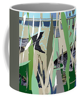 Coffee Mug featuring the mixed media Striper  by Andrew Drozdowicz