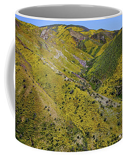 Stripes Of Yellow Cover The Temblor Range At Carrizo Plain National Monument Coffee Mug by Jetson Nguyen