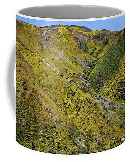 Stripes Of Yellow Cover The Temblor Range At Carrizo Plain National Monument Coffee Mug