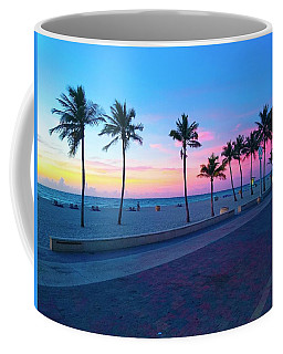 Coffee Mug featuring the photograph Strolling Along The Beach Under A Majestic Sunset by Patricia Awapara