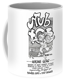 Real Fake Newsstub Toe Hiking Gear Ad Coffee Mug