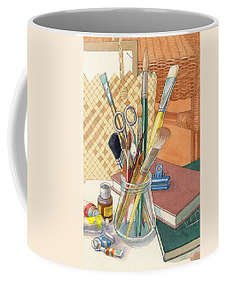 Coffee Mug featuring the painting Studio by Judith Kunzle