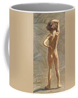 Study Of A Nude Boy Coffee Mug