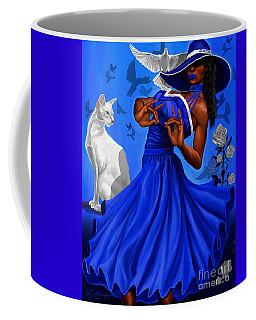 Stunning Blue And White Coffee Mug