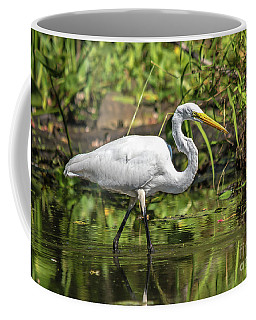 Coffee Mug featuring the photograph Stunning Egret by Cheryl Baxter