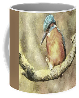 Stunning Kingfisher In Watercolor Coffee Mug
