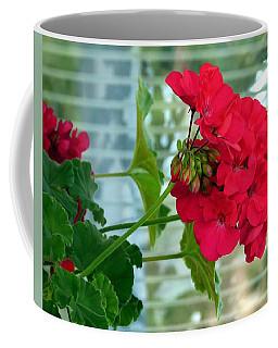 Stunning Red Geranium Coffee Mug