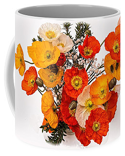 Stunning Vibrant Yellow Orange Poppies  Coffee Mug