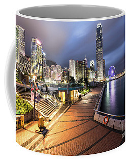 Stunning View Of Hong Kong Central Business District Skyscrapers Coffee Mug