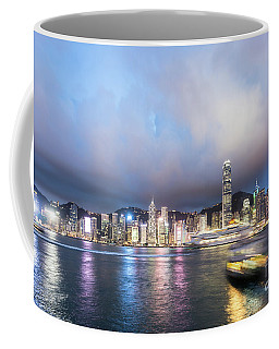 Stunning View Of Hong Kong Island At Night.  Coffee Mug
