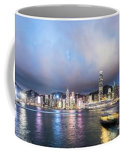 Stunning View Of Hong Kong Island At Night.  Coffee Mug