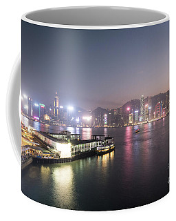 Stunning View Of The Twilight Over The Victoria Harbor And Star  Coffee Mug