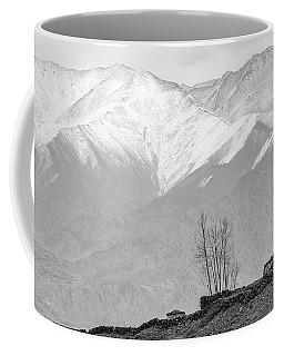 Stupa And Trees Coffee Mug by Hitendra SINKAR