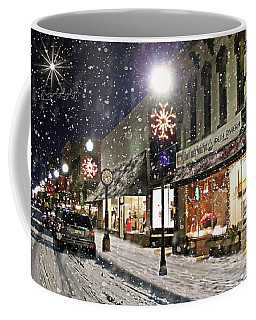 Sturgeon Bay On A Magical Night Coffee Mug by Albert For Door County Social