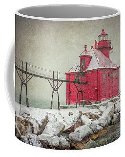Sturgeon Bay Pierhead Lighthouse Storm Coffee Mug
