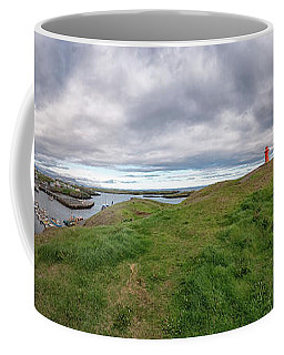 Stykkisholmur Harbor Pano Coffee Mug