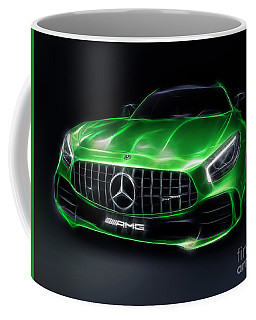 Stylized Illustration 2017 Mercedes Amg Gt R Coupe Sports Car Coffee Mug