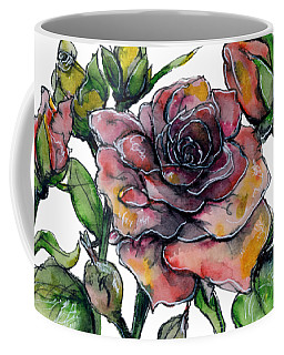 Stylized Roses Coffee Mug