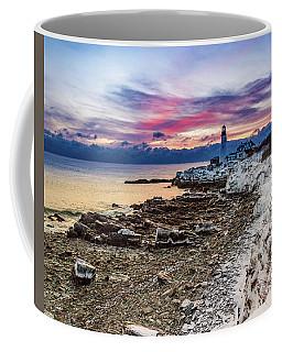 Subtle Sunrise At Portland Head Light Coffee Mug